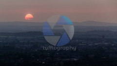 Sunset over Gloucester from Prinknash Abbey