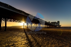 Weston-super-Mare pier at sunset