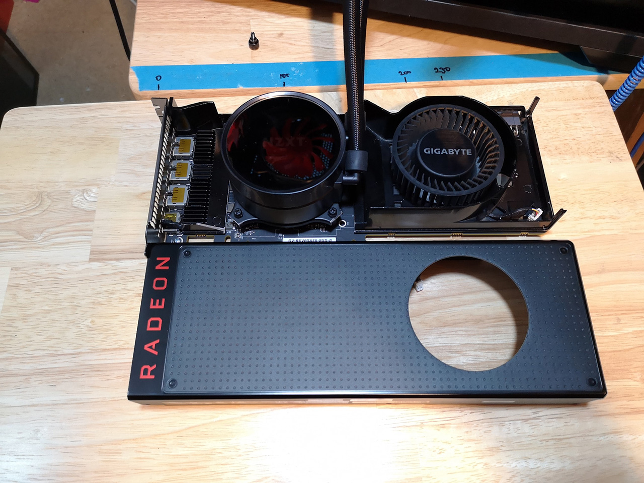 Water cooling a Vega 56 graphics card