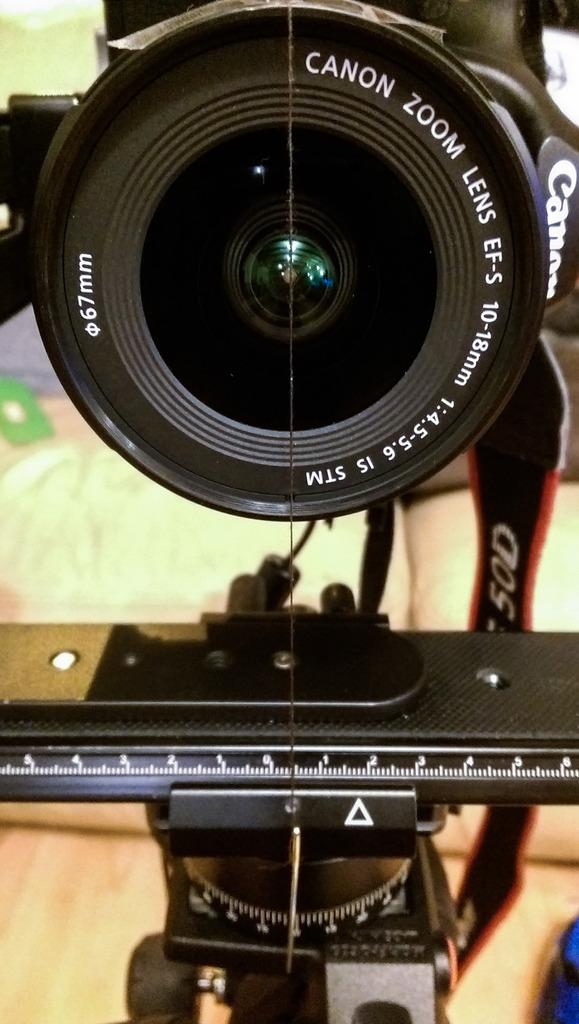 Centering the lens